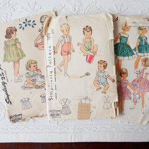 40s & 50s Simplicity Patterns : Dress, Overalls